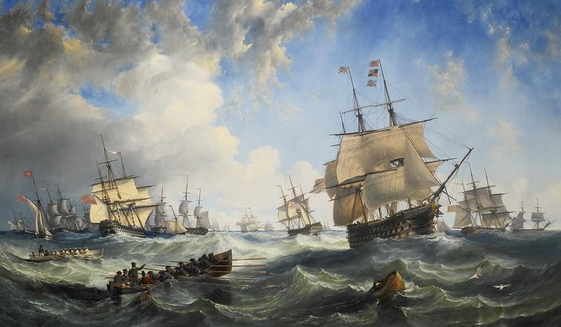 John Wilson Carmichael - The Channel fleet in heavy weather