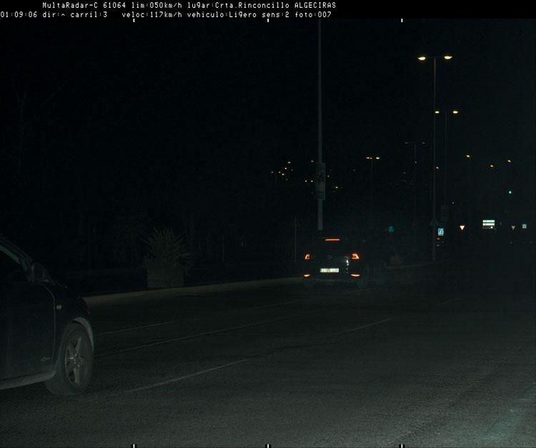 La Policía Local sorprende a un conductor a 117 kilómetros por hora en la carretera al Rinconcillo