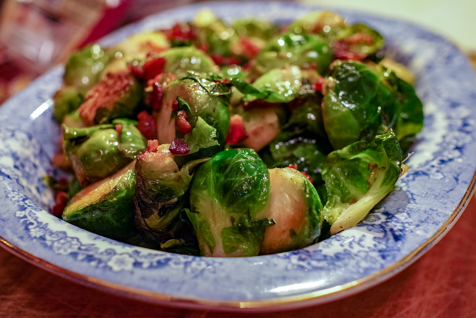Brussels Sprouts with Bacon (Low Carbohydrate, Healthy Fat)