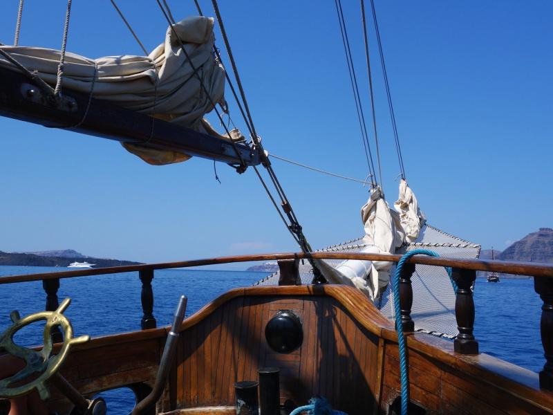 Santorini boat cruise