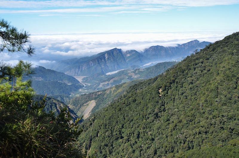 船型山林道4.0K西北俯瞰馬克連稜 8