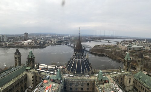 View from Peace Tower, Canadian Parliament, Ottawa