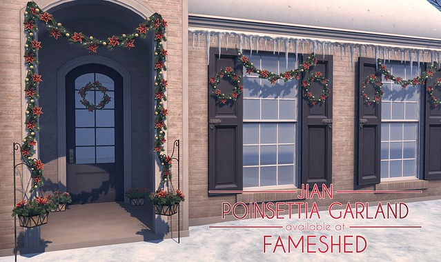 JIAN Poinsettia Garland @ FaMESHed Dec '18