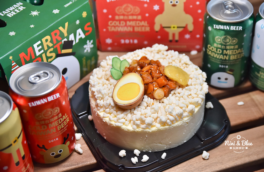 85度C滷肉飯蛋糕 金牌台灣啤酒耶誕版08