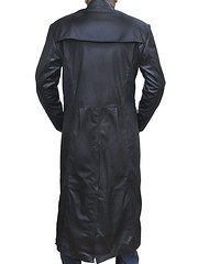 Keanu Reeves The Matrix Neo Black Leather Trench Coat 3