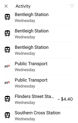Mobile Myki: transaction history | by Daniel Bowen