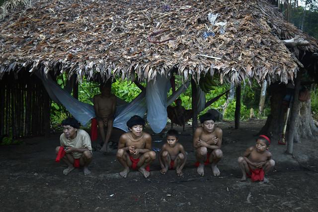 Das 255 aldeias Yanomami, 197 estão localizadas no noroeste de Roraima. - Créditos: Leo Ramirez / AFP