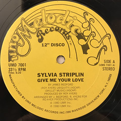 SYLVIA STRIPLIN:GIVE ME YOUR LOVE(LABEL SIDE-A)