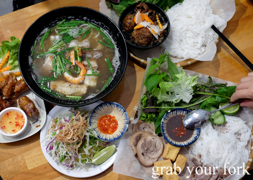 Hanoi cuisine at Mam Mam Vietnamese restaurant in Bankstown