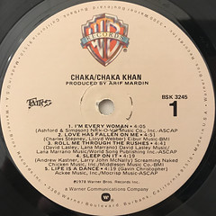 CHAKA KHAN:CHAKA(LABEL SIDE-A)