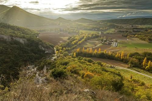 Lumière d'automne sur la plaine de Soyans