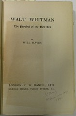 Penn Libraries 811W YHay: Title page