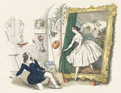 """Vintage advertisement for a balet """"Des Malers Traumbild"""" featuring Fanny Elssler (1810-1884). Original from New York public library. Digitally enhanced by rawpixel."""