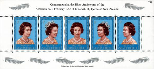 Známky Nový Zéland 1977 Kráľovna Alžbeta nerazený hárok