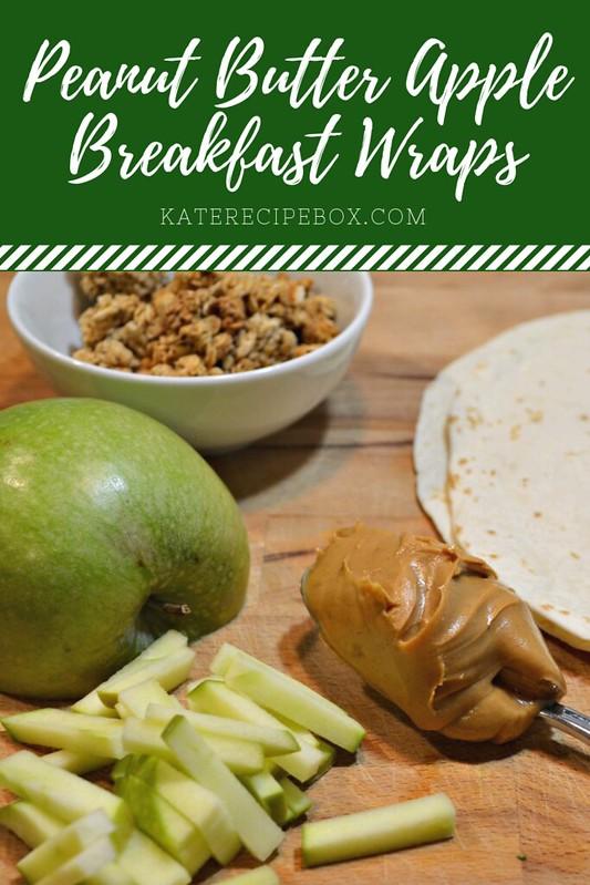 Peanut Butter Apple Breakfast Wraps