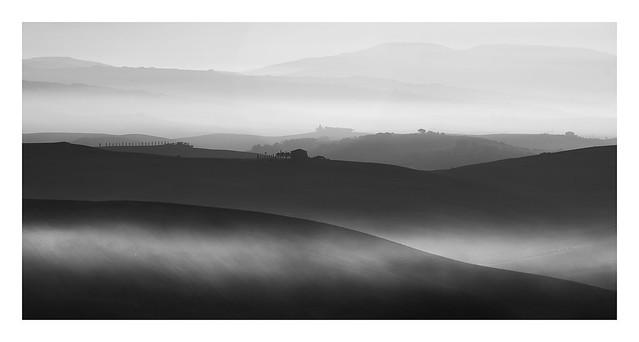 misty tuscan dawn