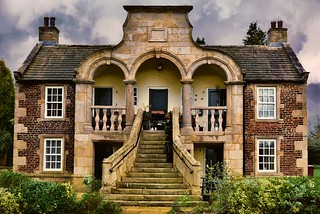 almshouses, endowed in 1726 by John Sherburn. These were originally intended for six Catholic ladies, widows or spinsters. The unusual facade includes Roman pillars. Hamlet of Stydd, nr Ribchester, Lancashire