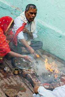 Hindu Pooja, Varanasi India