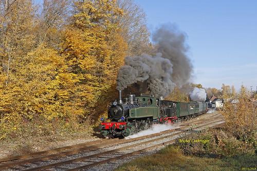 Mallet 020-020 Tigerli 030 et La Meuse 030 en pousse Train de la Mémoire à Burnhaupt