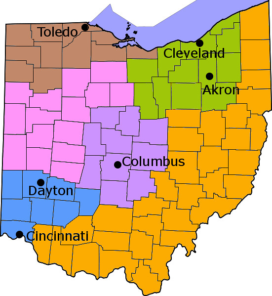 Ohio Counties w Appalachia