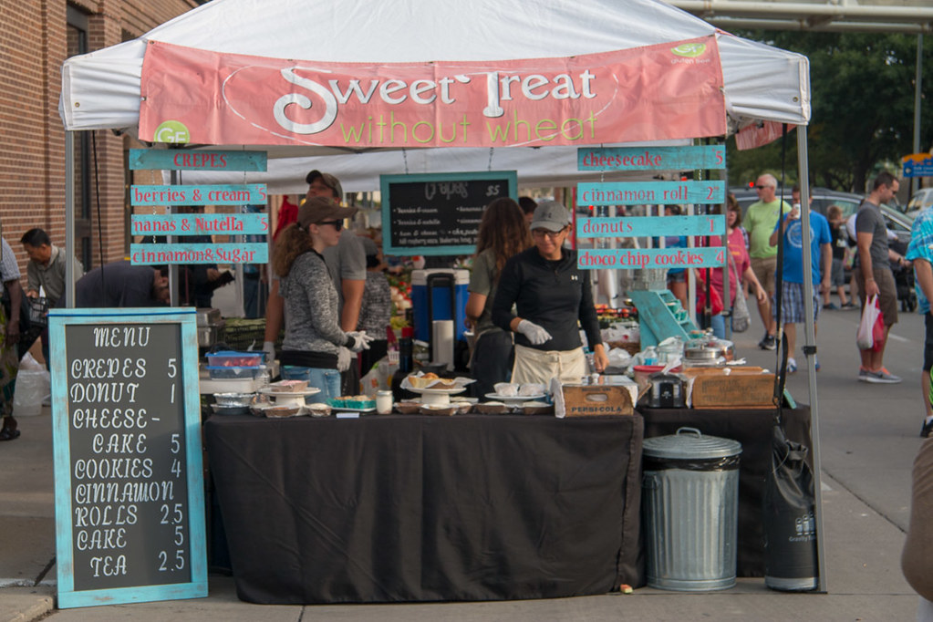 Sweet Treat stand at the Des Moines Farmer's Market