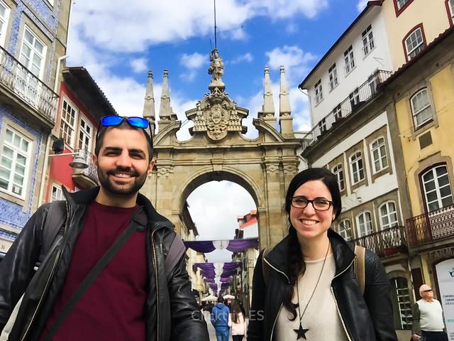 · Arco da Porta nova, inicio de nuestro viaje a Braga de un día · Qué ver en Braga · Lo mejor de Braga ·