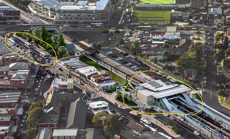 Mentone level crossing removal - design 2019