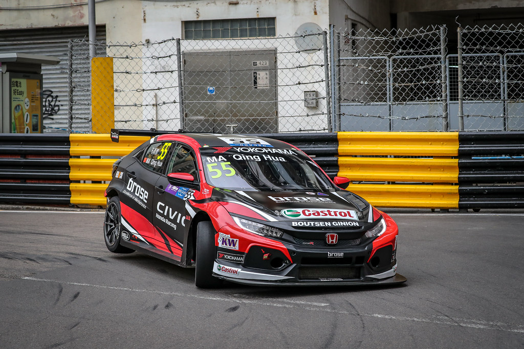 55 MA QUING HUAa (CHN), Boutsen Ginion Racing, Honda Civic TCR, action during the 2018 FIA WTCR World Touring Car cup of Macau, Circuito da Guia, from november  15 to 18 - Photo Alexandre Guillaumot / DPPI