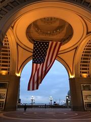 American Flag at Boston Harbor Hotel