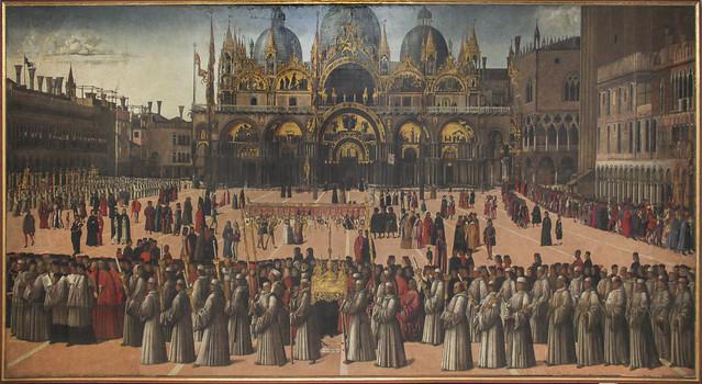 Processione in Piazza San Marco, Gentile Bellini, 1429-1507