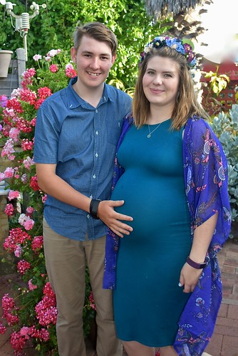 Kylie Weaver & her fiancee Jed in our garden 3 November 2018