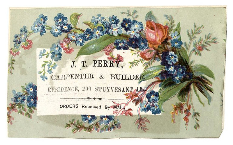 009-Scrapbook of trade cards 1877-1894- Brooklin Museum