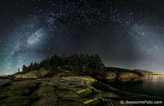 Milky Way over Lighthouse Park