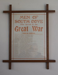 Men of South Cove who served in the Great War