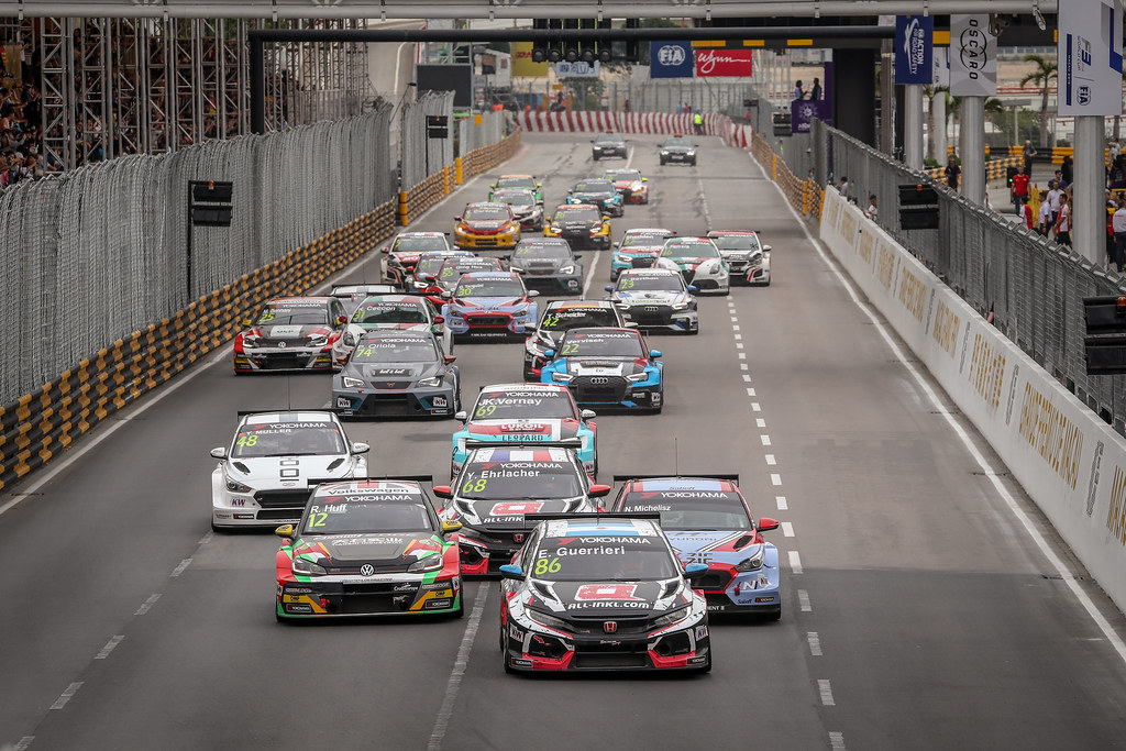 Start Race 3, 86 GUERRIERI Esteban, (arg), Honda Civic TCR team ALL-INKL.COM Munnich Motorsport, action during the 2018 FIA WTCR World Touring Car cup of Macau, Circuito da Guia, from november  15 to 18 - Photo Alexandre Guillaumot / DPPI