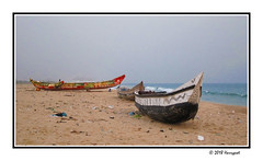two wooden boats