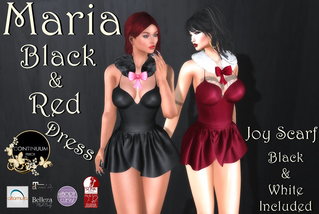 Continuum Maria Black & Red with scarf – SPECIAL 10 LINDEN