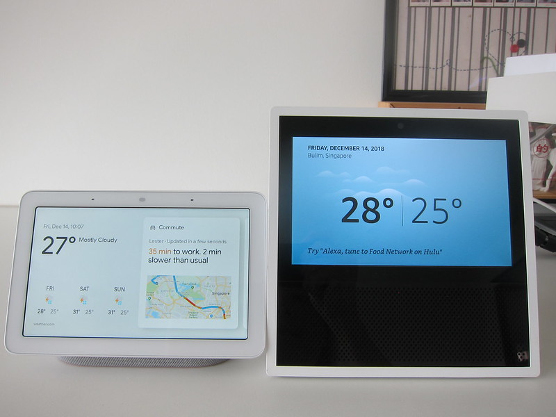 Google Home Hub vs Amazon Echo Show (1st Generation)