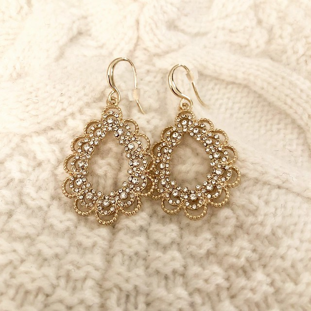 LOFT Filigree Teardrop Earrings