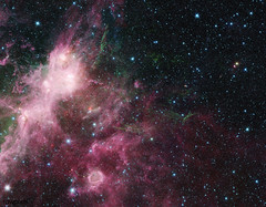 NASA's Spitzer Space Telescope is showing the birth and death of stars. Original from NASA. Digitally enhanced by rawpixel.