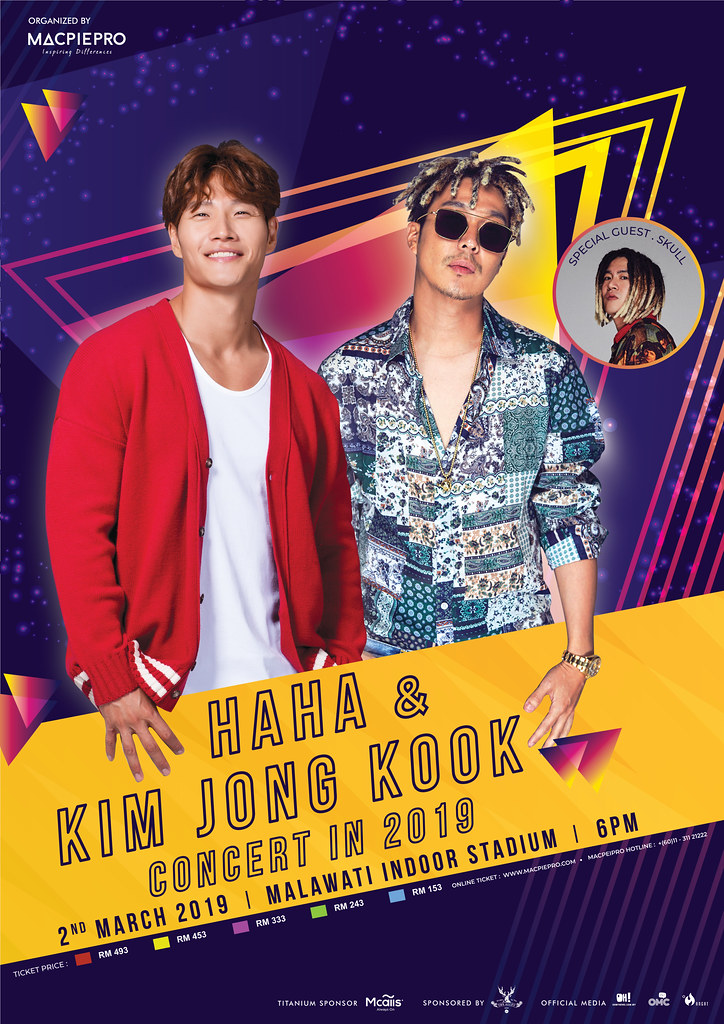 Haha &Amp; Kim Jong Kook Concert In 2019 Di Malaysia