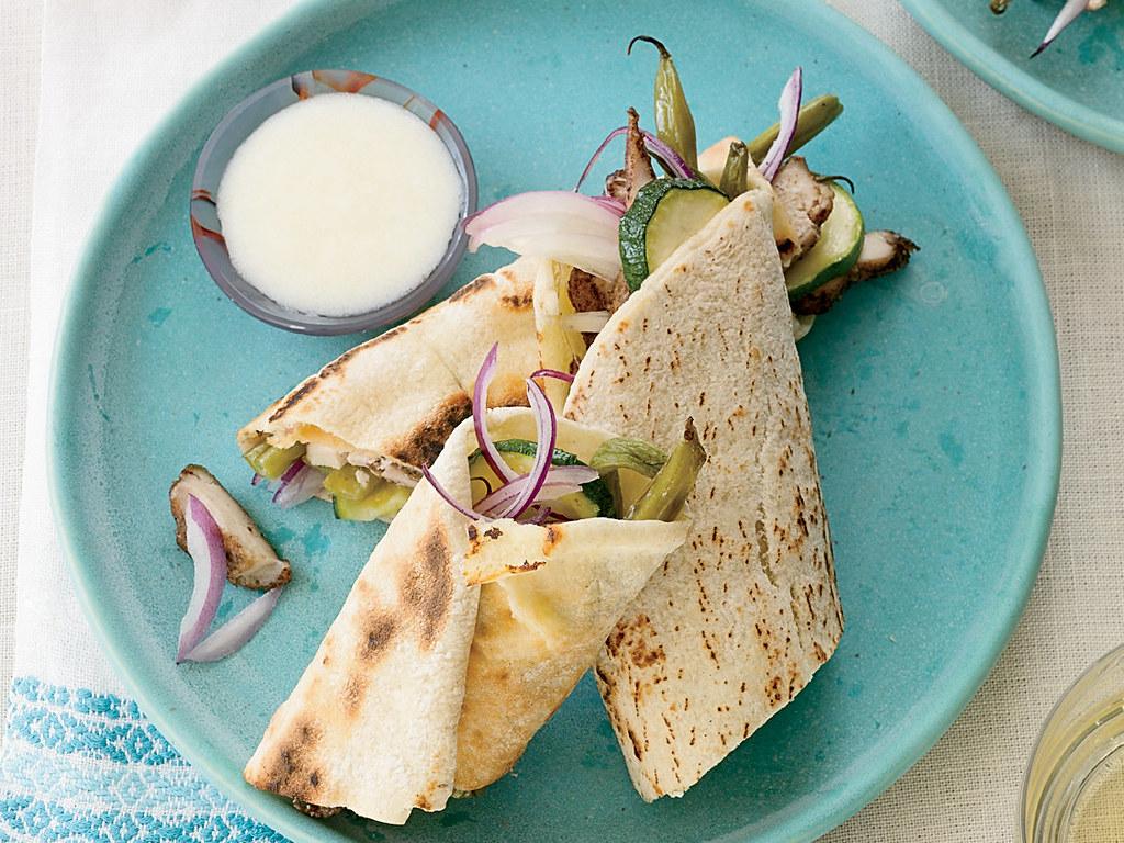Schezwan Chicken Shawarma