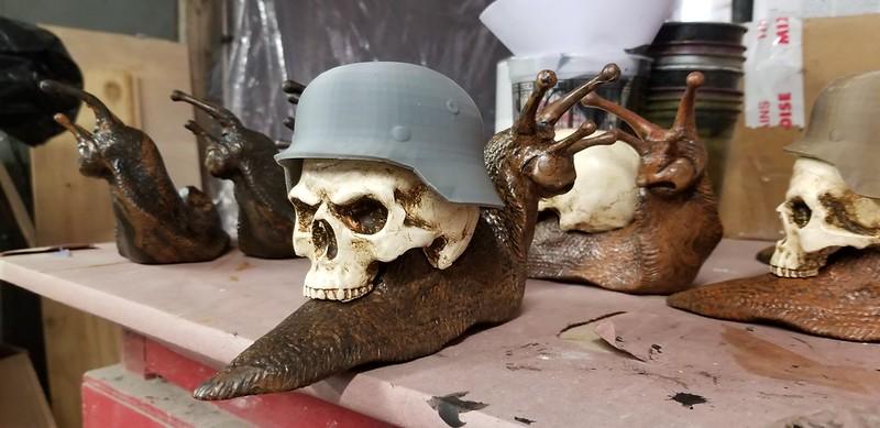 Death Snail German Helmet Closeup