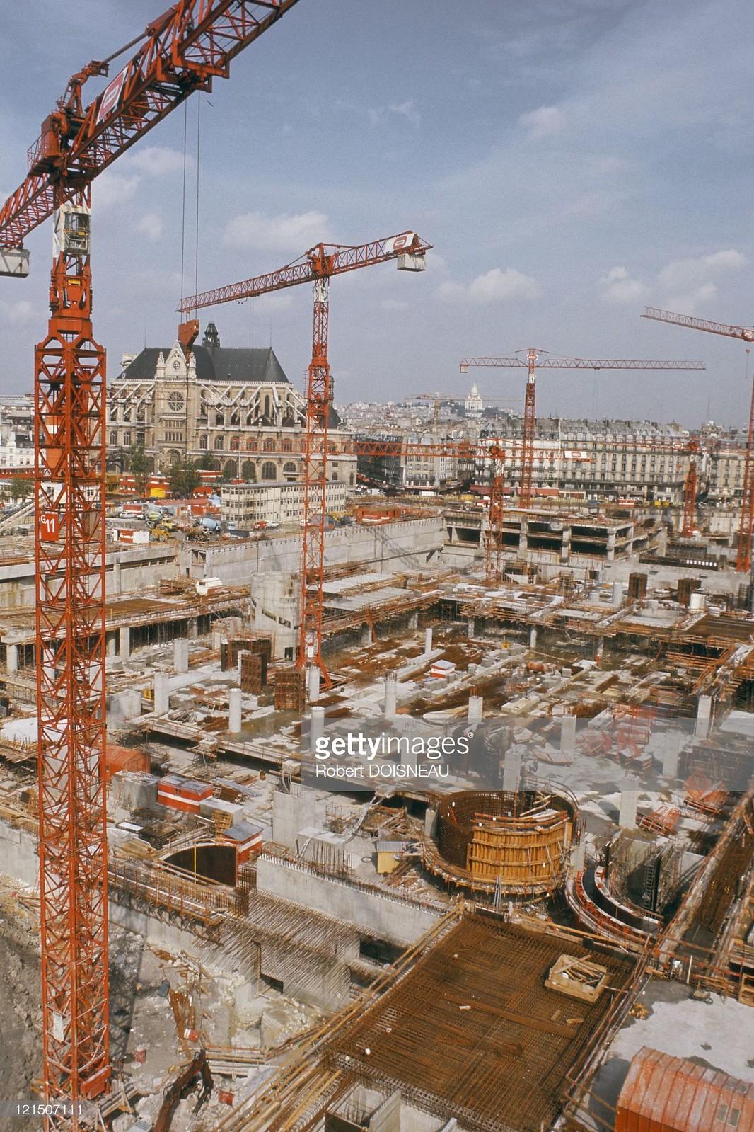 1970-е. Париж, Строительная площадка Ле-Аль