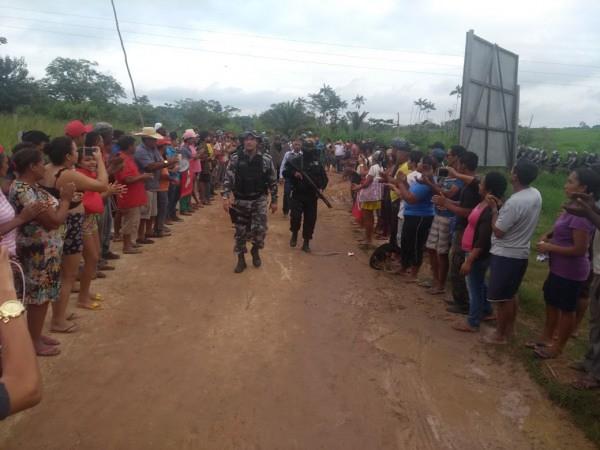Operação da Polícia Militar no acampamento Hugo Chávez, do MST, em Marabá, no Pará - Créditos: MST-PA