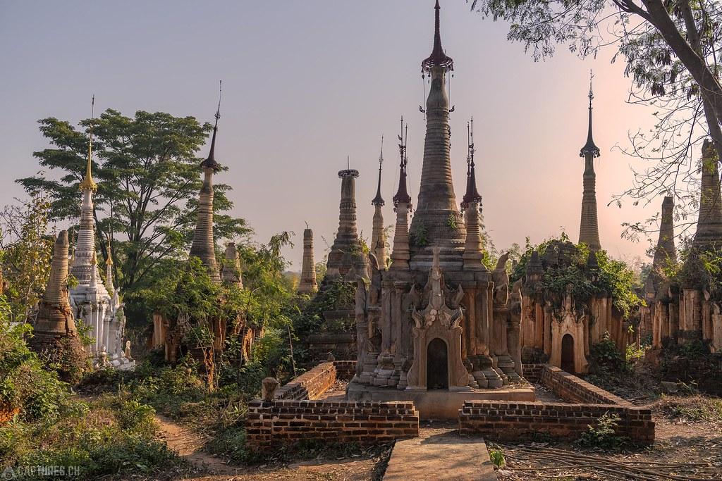 Pagodas in Indein - Inlei Lake