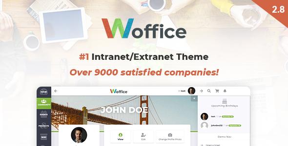 Woffice v2.8.0.3 - Intranet/Extranet WordPress Theme