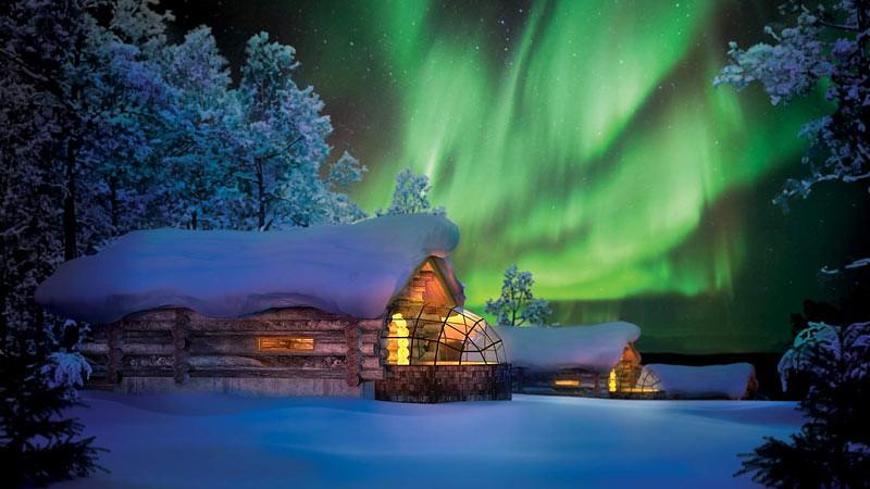 Kakslauttanen Arctic Resort, Finlandia.