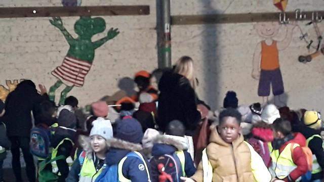 Sinterklaas en Zwarte Piet in de kleuterschool