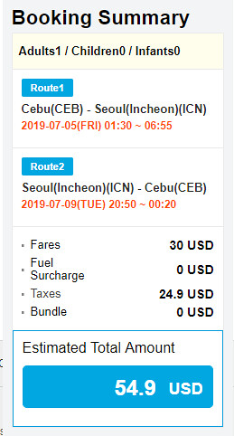 JejuAir Cebu to Seoul Roundtrip Promo